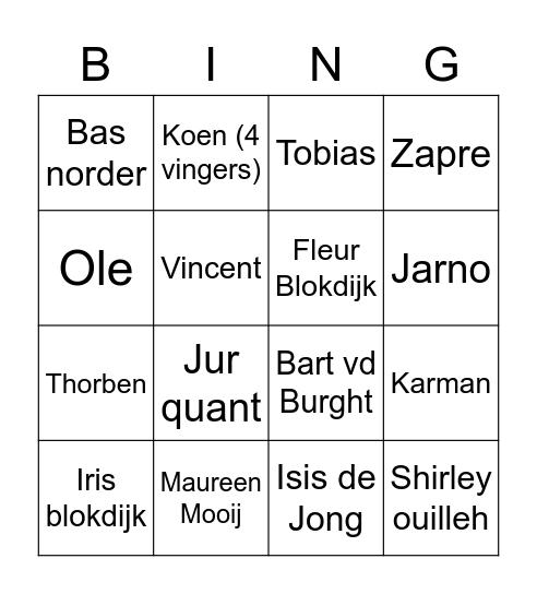 Kech BINGO Card