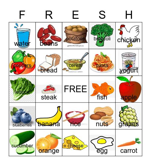 HEALTHY CHOICES Bingo Card