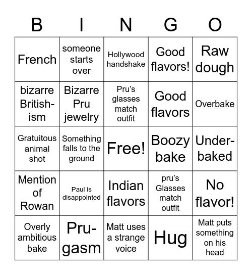 GBBO Bingo! Bingo Card