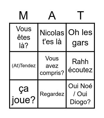 Bingo Maths Bingo Card