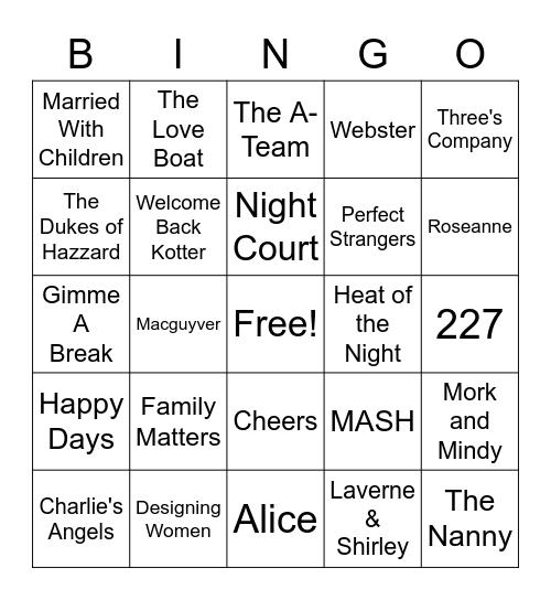 Gero TV Bingo Card