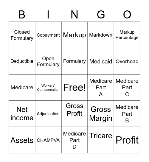 IHT Billing Services Bingo Card