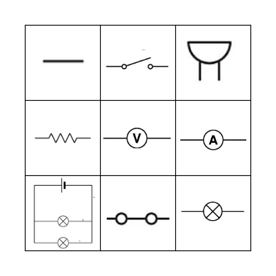 Circuit Symbols Bingo Card