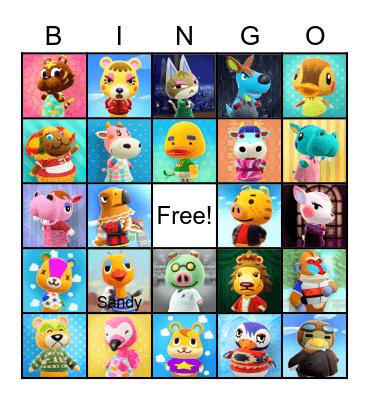 Villager Hunting Bingo Card