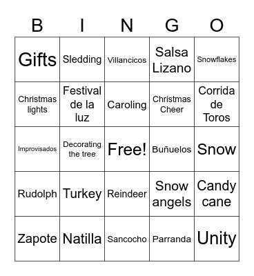 Xmas Fest Bingo Card