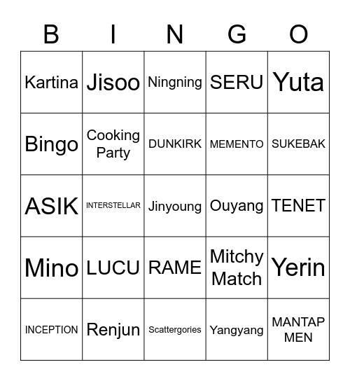 BAMBAM Bingo Card
