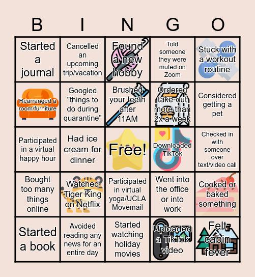 Q U A R A N T I N E Bingo Card