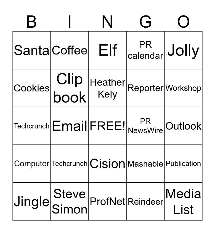SS|PR  Bingo Card