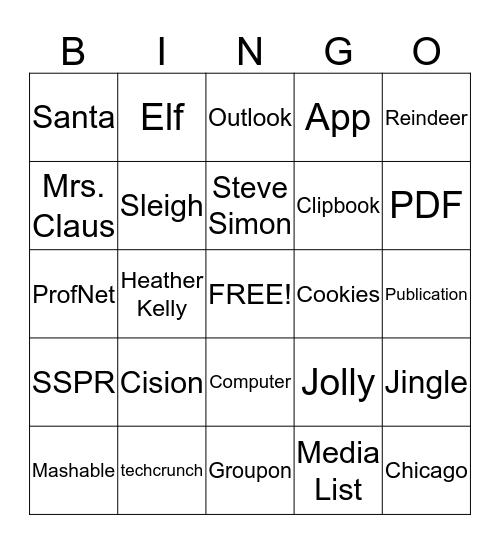 SS PR Bingo Card
