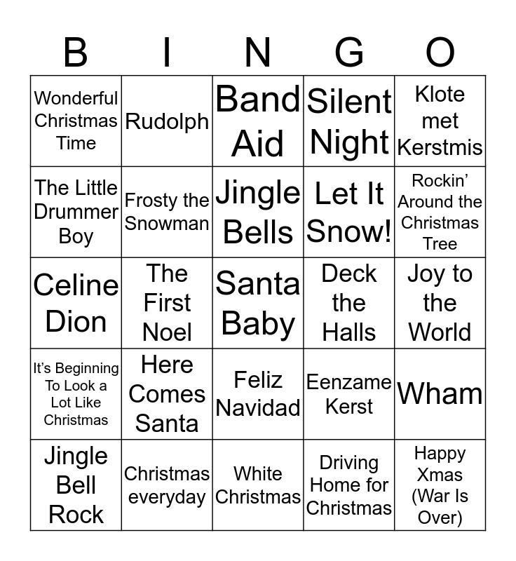 Kerst Bingo! Bingo Card
