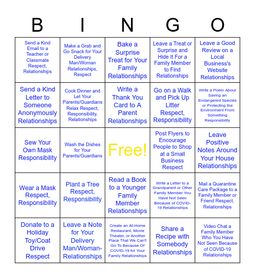3Rs Bingo! Bingo Card