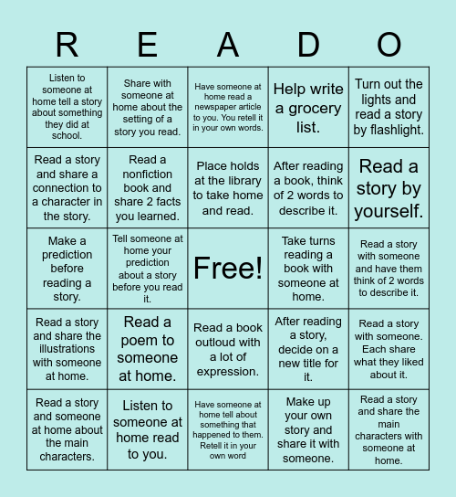 READO Bingo Card