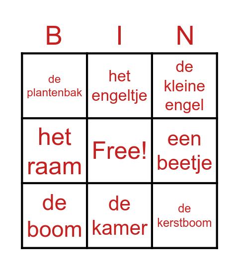 Lidwoorden Bingo Card
