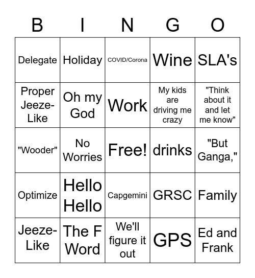 TEAM FAB Bingo Card