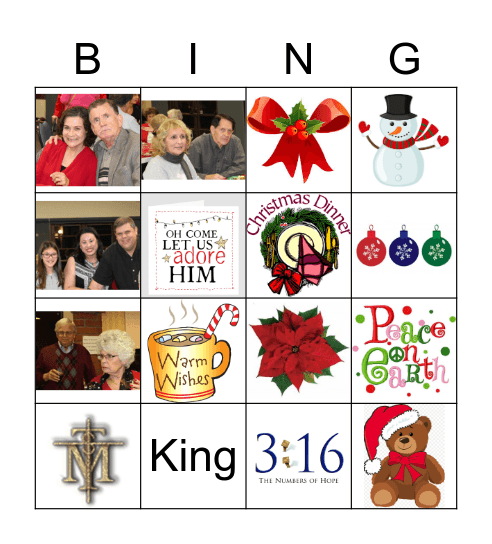 Christ in Christmas Bingo Card