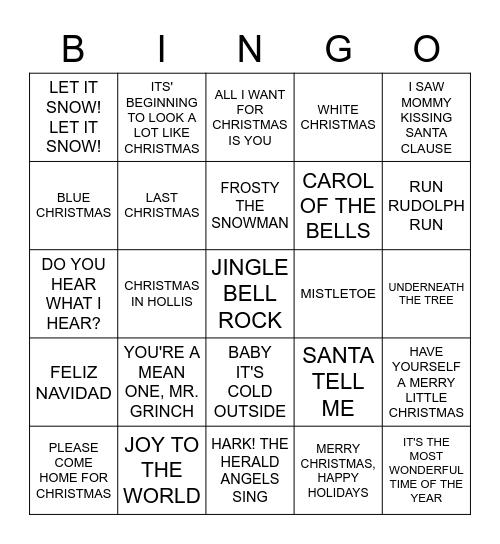 XMAS Bingo Card