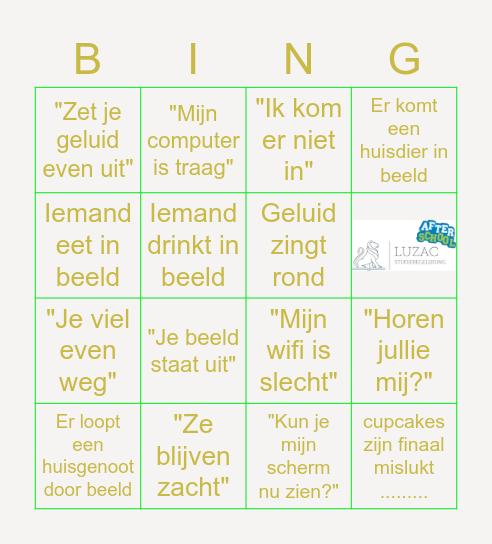 Kerst 2020 Luzac Bingo Card