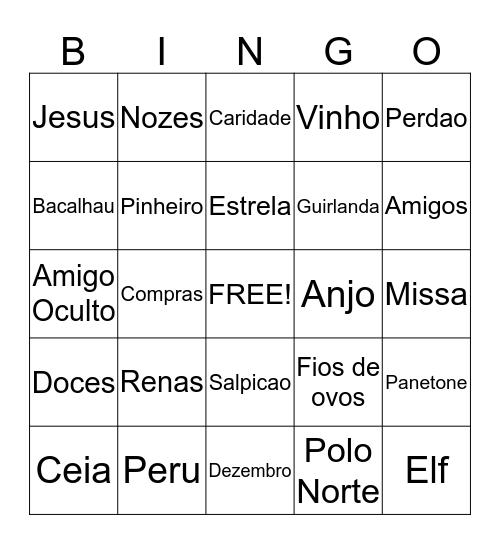 Bingo de Natal 2014 Bingo Card
