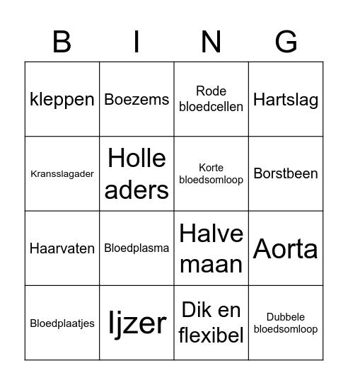 Biologie bingo! Bingo Card