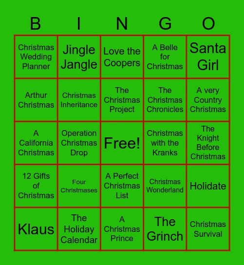 Netflix and Christmas Bingo Card