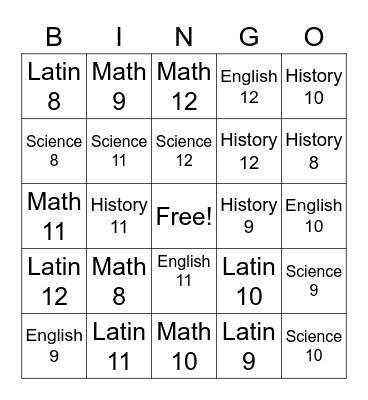 CC Bingo Card