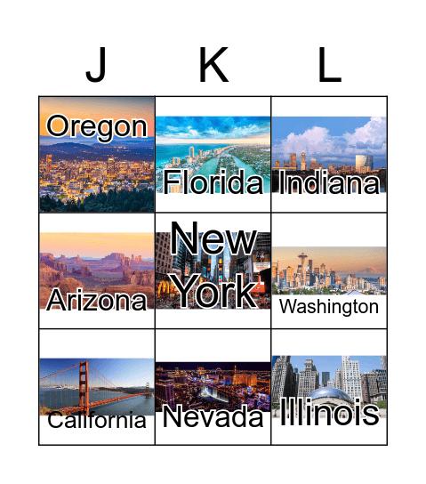 American States BINGO Card