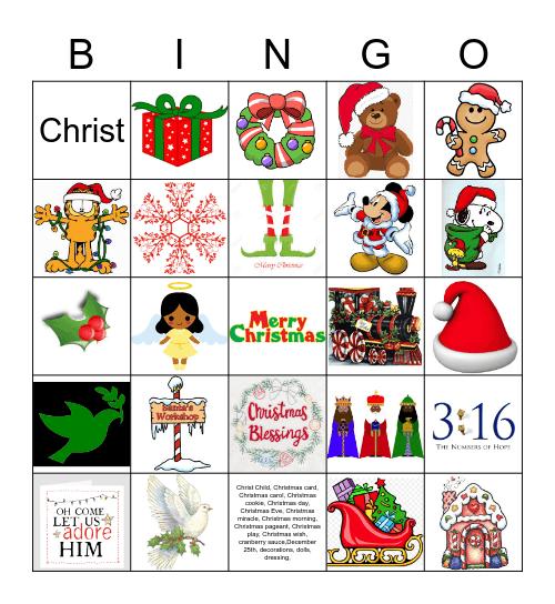 GLOW Christmas Bingo Card