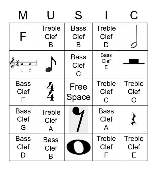 Note Name Bingo Card