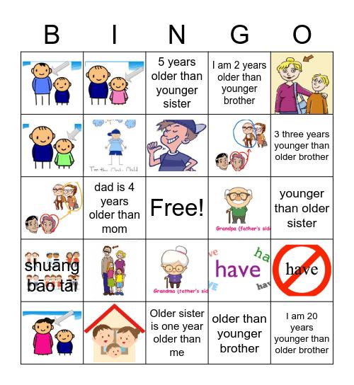 谁大谁小 Bingo Card