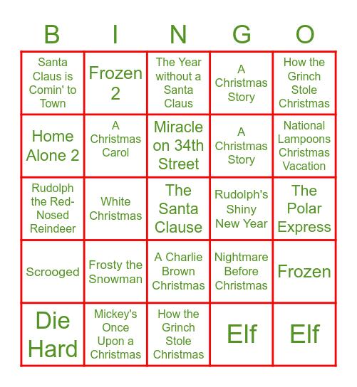 Media Team Holiday Bingo Card