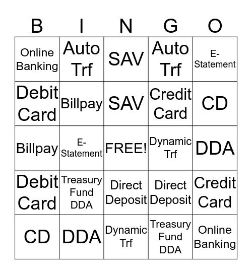Teller Line Bingo Card