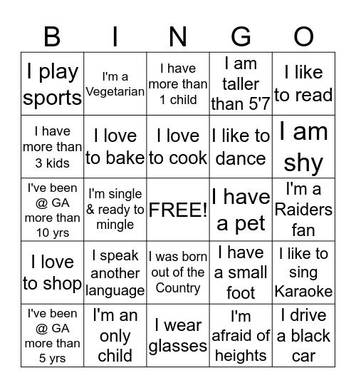 GA Office Bingo Card