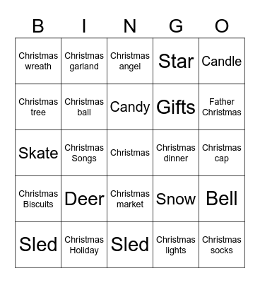 LEA's Holiday Gathering Bingo Card