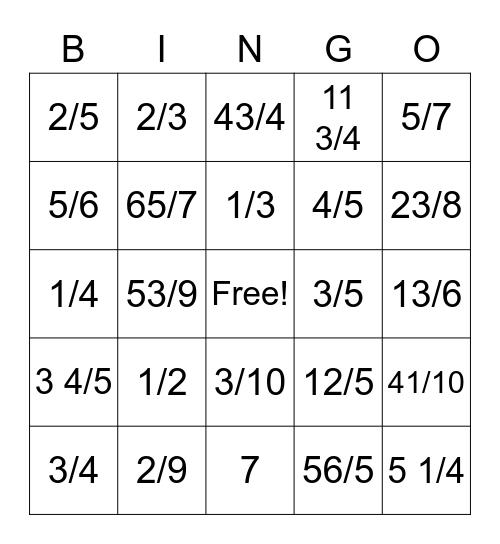 Ben Bingo Card