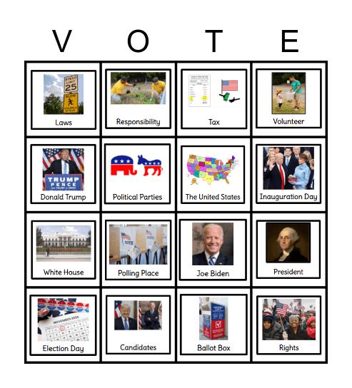 Election and Democracy Bingo Card