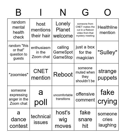 DECEMBER REBOOT Bingo Card