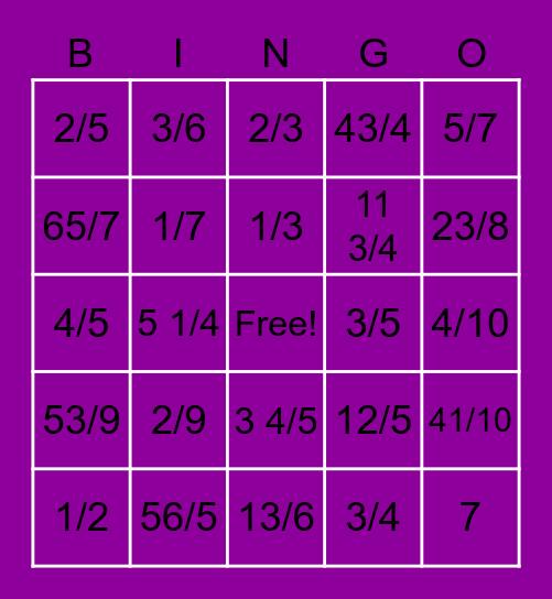 Sarah Bingo Card