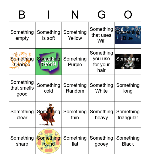 Scavenger Hunt: Bingo Card