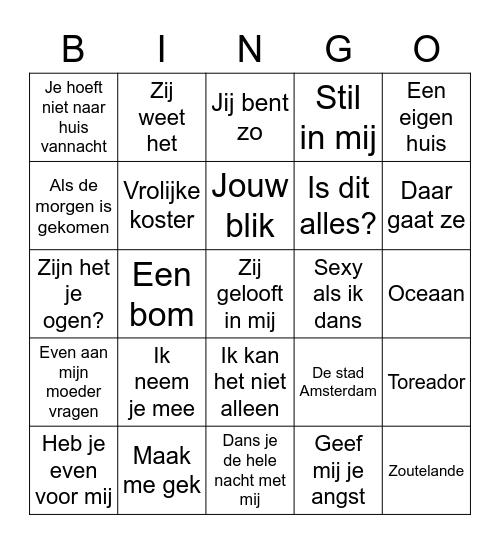 Nederlandstalig Bingo Card