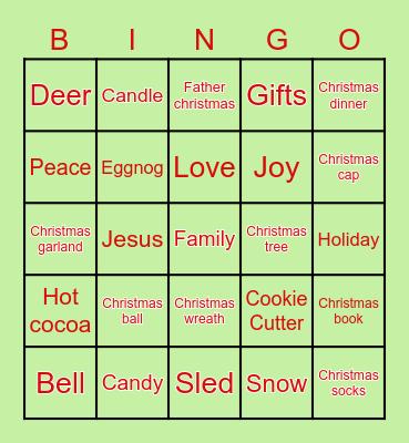 Holiday Fun! Bingo Card