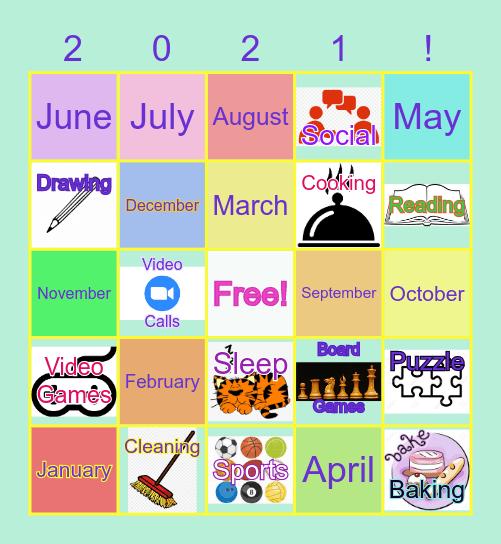 COUNTDOWN THE NEW YEAR Bingo Card