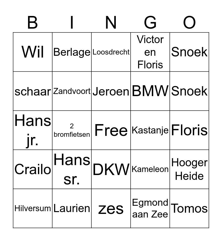 kerst 2014 Bingo Card