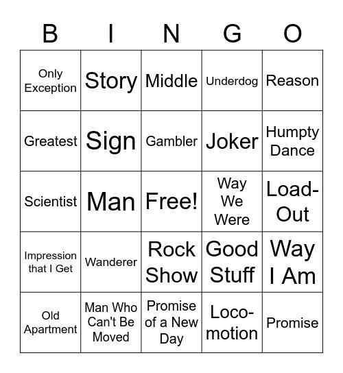The... Bingo Card