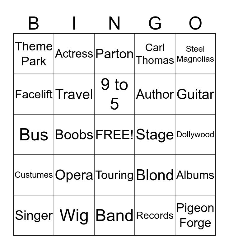 Dolly Bingo Card