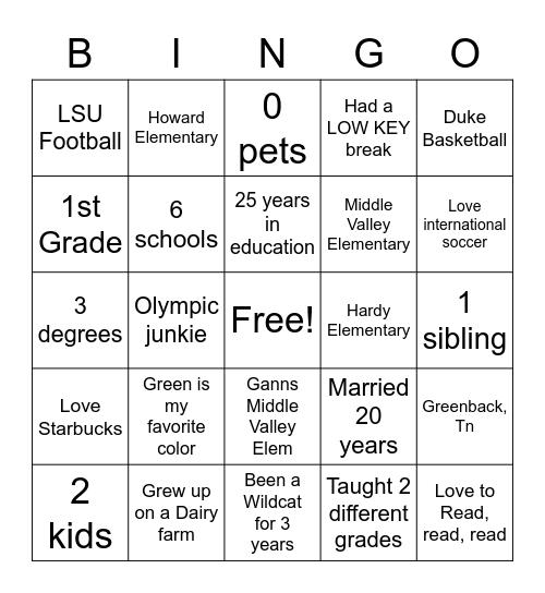 JRodgers Bingo Card