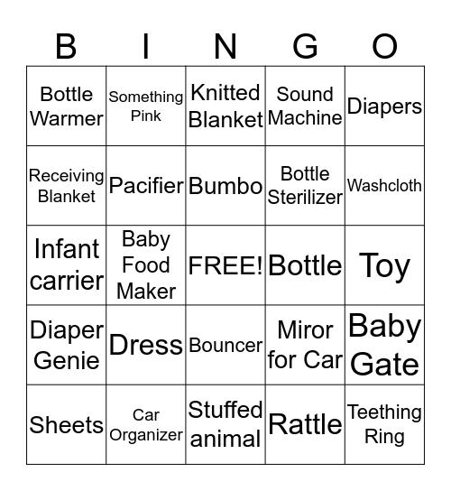 Baby Lyla Bingo Card