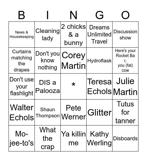 Podcast Cruise 4.0 Bingo Card