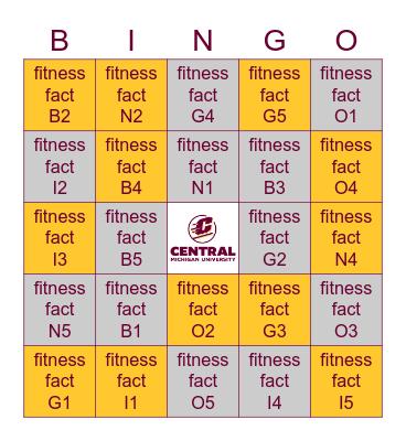 FITNESS & WELLNESS Bingo Card