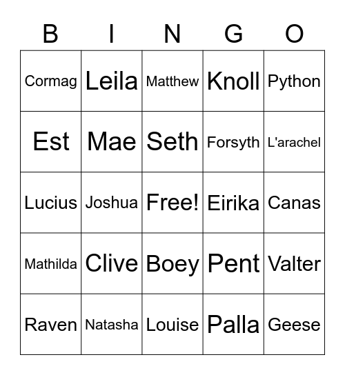 Wanted Alts/OGs Bingo Card