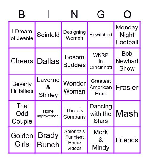 Name That TV Tune Bingo Card